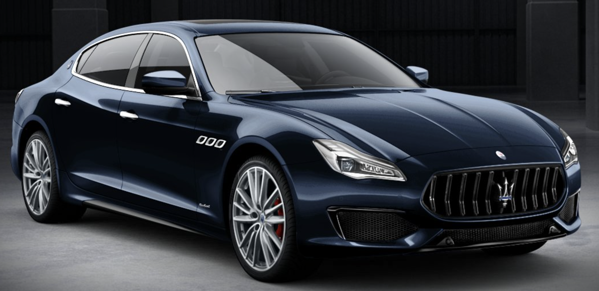 2019 Maserati Quattroporte in Blu Nobile from maseratiUSA