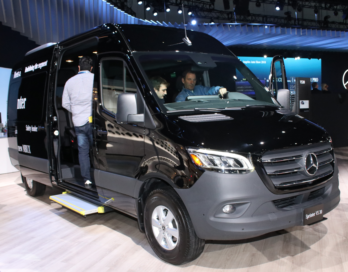 2019 Mercedes Sprinter Cargo at LA Auto Show