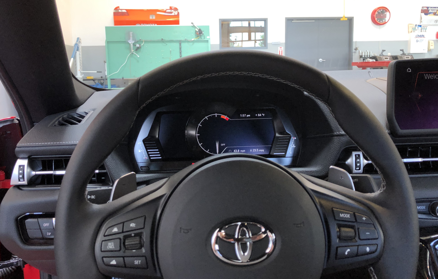 2020 Toyota Supra Steering wheel view KC Supra Test