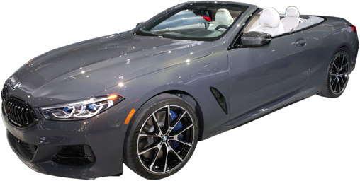 2021 BMW 8 Series Convertible stock photo