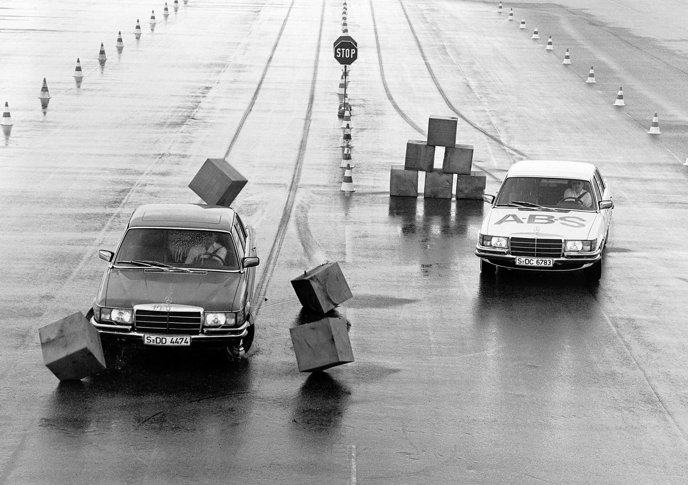1978 Mercedes ABS Demonstration courtesy Daimler.