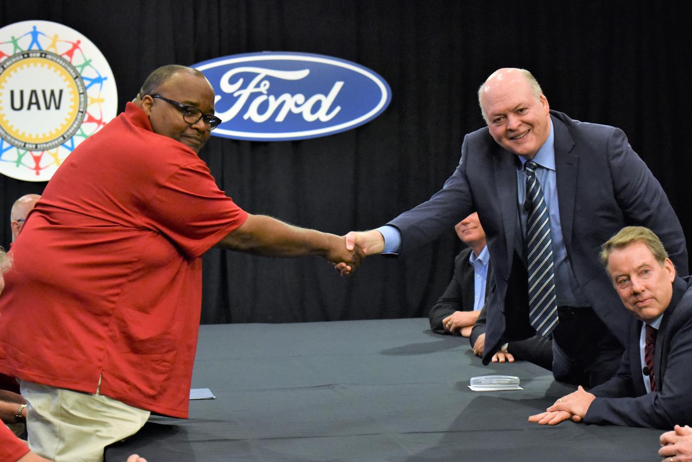 Ford UAW Handshake