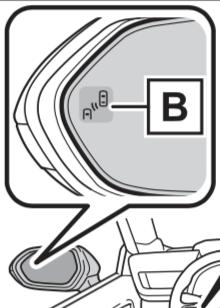 Toyota Mirai Blind Spot Monitor Illustration