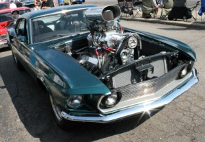 1967 Ford Mustang big supercharger