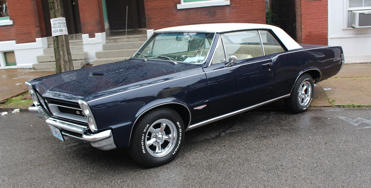 1965 Pontiac GTO with the 4-barrel 389 V8 and 4-speed manual