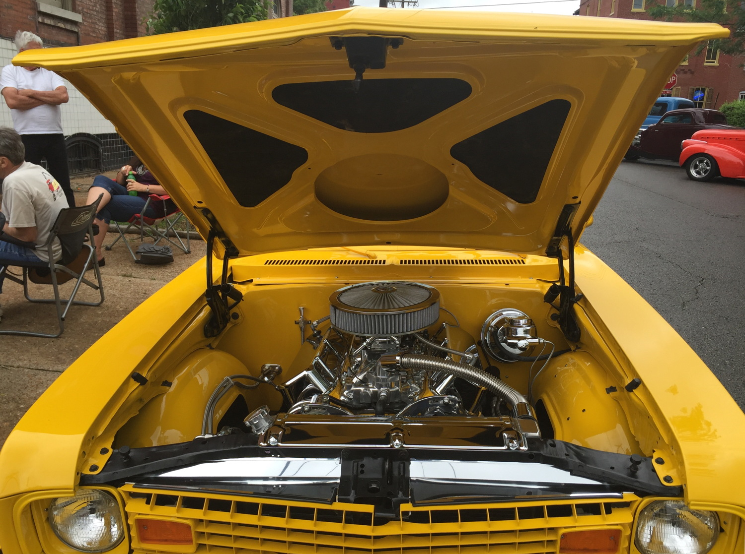 1973 Chevrolet Nova 454 V8 bored out to 470 cubic inches.