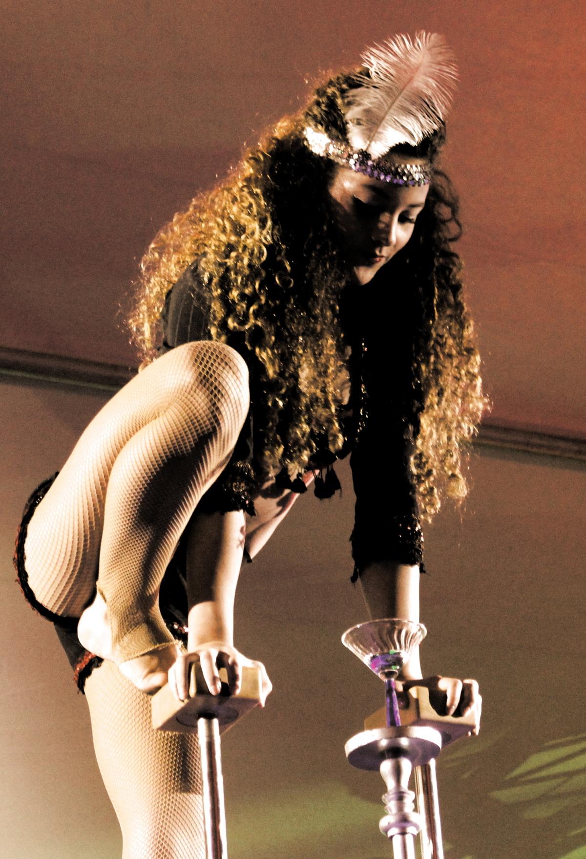 acrobat lady