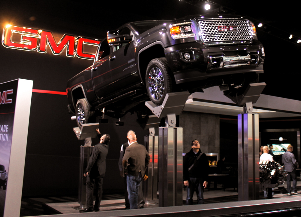 GMC Truck on stilts